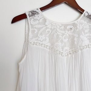 Free People FP One ivory backless lace top S